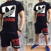 """Летний мужской костюм """"Adidas"""" 46,48,50,52 (2с"""