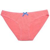 Хлопковые трусики слип в горошек 5205/34 Nelly coral/white от Jasmine lingerie