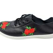Мокасины женские Violeta 4-326 черные