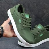 Мокасины мужские Lacoste green