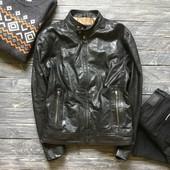 Натуральная кожаная мужская куртка p-p M