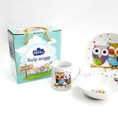 Посуда для детей - чашка, тарелка, супница. Набор для кормления.