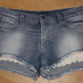 Короткие шорты с кружывом only denim