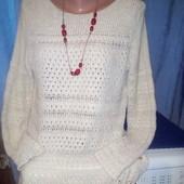 Интересный ажурный свитер Spirit L XL, oчень хорошее состояние, уп16