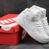 Кроссовки высокие Nike Air Force white