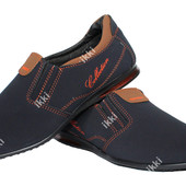 Стильный мужские туфли синего цвета (БМ-02 рс)