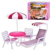 Набор мебели для кукол Gloria Для отдыха на природе 3920