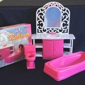Набор мебели для кукол Gloria Ванная комната