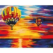 Картина по номерам Роспись на холсте Небо и воздушный шар 40*50см KH2820 без коробки