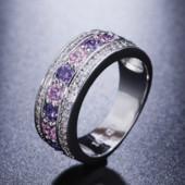 Позолоченное кольцо с цирконами код 1148
