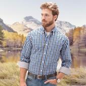 Рубашка из хлопка 43/44 от Тсм Tchibo Германия
