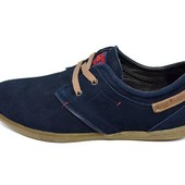 Туфли мужские нубук Multi-Shoes Footwear Lac синие