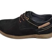 Туфли подростковые нубук Multi-Shoes Footwear Mell черные