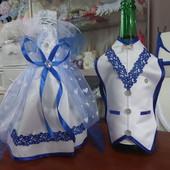 Одежда для шампанского платье невесты и костюм жениха