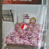 Хлопковая постель для девочки.Emoji/ 200х135