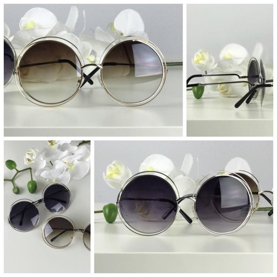 Невероятные очки-тишейды с двойной ободковой оправой фото №1