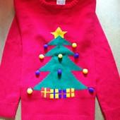 Новогодний свитер на 7-8 лет