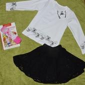 Блуза Бабочки с длинным рукавом 116-146 см