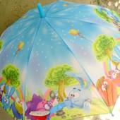 Смешарики! Зонт зонтик трость для мальчика и девочки малышам 2-5 лет