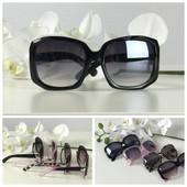 Женственные солнезащитные очки оверсайз с оригинальной оправой (черные)
