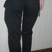 брюки женские чёрные стильные котон р.24,25,26,27,28,29,30