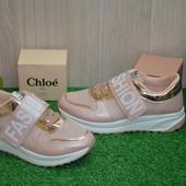 Женские кроссовки белые розовые