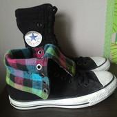 Высокие вельветовые кеды Converse All Star, 2 варианта носки