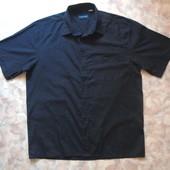 Черная рубашка 52-54 с кор. рук.