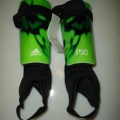 Новые футбольные щитки голеностопами Adidas, р М, защита для ног