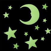 Светящиеся звёздочки и месяц.