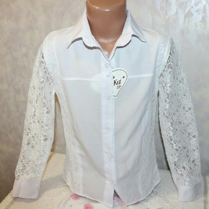 Школьные блузки для девочек фото №1