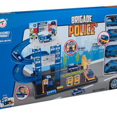 Паркинг Полицейский участок, 4 машины, в коробке 46,5*5,5*26,5см
