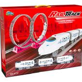 Железная дорога на батарейках, свет, звук, в коробке 50,0*9,0*38,5см