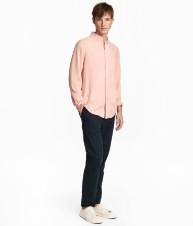 Льняные штаны мужские h&m англия размеры фото №2