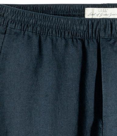 Льняные штаны мужские h&m англия размеры фото №3