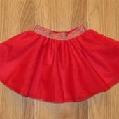 F&F (18 мес.) красная фатиновая юбка-пачка для девочки