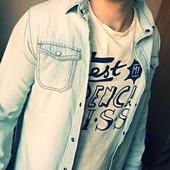 джинсовая рубашка 14 лет xs
