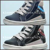 Новые ботинки С.Луч M168  Синий, черный. Размеры:21-25