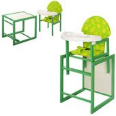 Стульчик для кормления Vivast (М V-100 К-3-9) зеленый