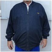 Мужская джинсовая куртка курточка 60 размер