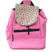 Детский рюкзак розовый с совами