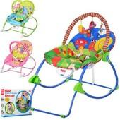 Детский шезлонг-качалка Bambi (M 3500) музыкальный