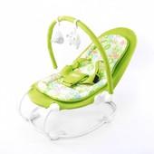Детский шезлонг Tilly (BT-BB-0004 green) со съемным бампером