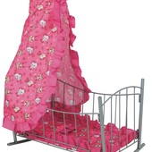 Кроватка для куклы с балдахином
