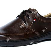 42 р Мужские туфли коричневые отечественного производства (ЮТ-21к)