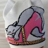 Двухслойная шапочка для девочки. Количество ограничено!)