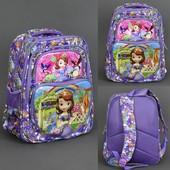 Рюкзак школьный для девочки, 5 отделений, 2 кармана, спинка ортопедическая