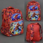Рюкзак школьный, Человек Паук, 5 отделений, 2 кармана, спинка ортопедическая