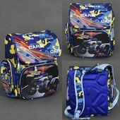 Рюкзак школьный для мальчика Monster Truck Cars, 3 отделения, 2 кармана, 2 отделения внутри, ортопед
