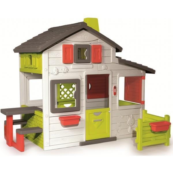 Большой дом с чердаком и звонком Smoby Friends House 310209.  фото №1